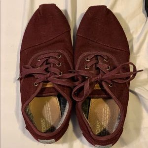 Burgundy Toms Shoes